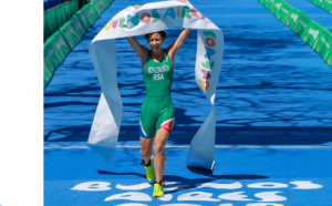 Amber Schlebusch at Youth Olympics