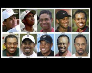 Pic showing the raise and fall of tiger woods