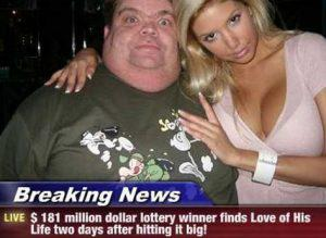 picture of man after winning jackpot