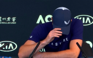 Murray in Tears during the media brief