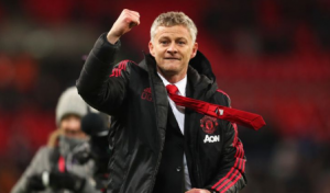 ole gunnar Solskjaer celebrating